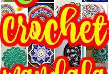 Crochet mandala pattern