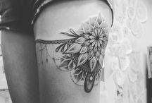 Left leg tattoo