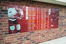 Collegiate Work / AMI has worked with colleges and universities across the country. From vinyl banners and windscreens to sponsor signage and wall murals and more, AMI has the experience to get the job done.