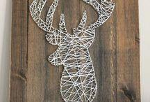 Nail and string art