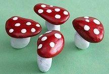 Pilze aus Steinen