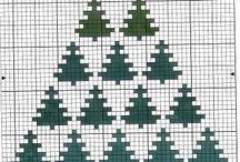 vyšívání vánoční motivy