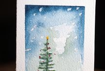 Christmas Cards In Watercolour