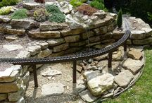 Garden Railway Ideas / Recycled plastic products designed with the help of garden rail enthusiasts to provide support for tracks.