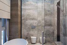 Steel bathroom