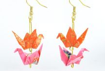 Origami Accessories from Lavender Home / Handmade origami accessories from London. Origami earrings, necklaces, and more crafts.
