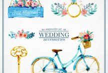Déco mariage avec vélo / Des idées déco mariage avec des vélos ou bicyclettes.