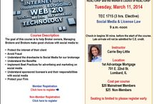 Carrie's Upcoming Course / Join Carrie for CE or MRED training