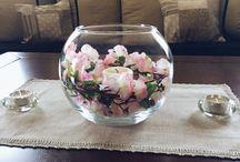 DIY świecznik z kwiatami