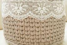 вязание корзинок