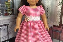 "18"" doll Dresses OOAK  HandMade -- American Girl, My Life Our Generation, Madame Alexander"