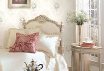 wall papered bed rooms