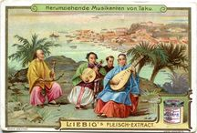 Liebig Cards Chromolithography art images / Liebig collecting cards