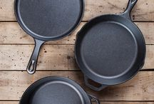 cast iron products, tips, recipes and care. / by Sandy Pearson-Reed