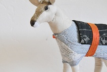 Fabric animals and toys