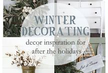My cozy winter home / After the holidays winter decor ideas
