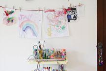 Kids room / Beautiful, fanny kids room. Skandinaavinen lastenhuone, Artek, Kartell, string, Oyoy, Mum's, Ikea hack, American girl, Marimekko