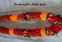 Flower Garlands / Garlands made of real and artificial flowers