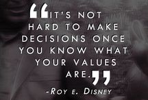 Values to live by