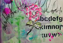 """MMMC #12 - May 2015 / Design Team Projects for Mixed Media Monthly Challenge #12 May 2015 """"May Flowers"""""""