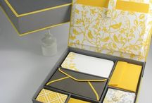 a yellow and gray wedding.