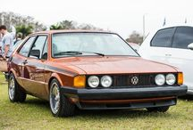 Our sunshine on a rainy day. This Scirocco was a standout amongst the #eurotripper crowd. #weDUB - photo from vw
