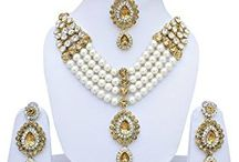 Dazzling Indian Bollywood Traditional Wedding Party Necklace Jewellery Set