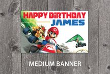 Mario Birthday Party Designs