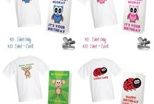 Clothing / A range of tshirt designs featuring our cute animal creations!