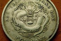 Китай Монеты China coins / Old Chinese coins silver an copper Старинные китайские монеты. Покупаю и продаю. Selling and bying Dollars.
