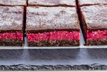 Raw chololate Raspberry bars