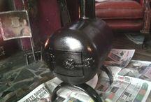 Pot-belly gas bottle woodstove