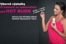 Hot Burn - doplněk stravy - thermogenní spalovač tuků / Doplněk stravy na bázi 4 extrémně funkčních látek na podporu spalování tuků, zrychlení klidového metabolismu, hubnutí Skvělá thermogenní směs na spalování tuků: Pomerančovník hořký - synefrin Chilli papričky - kapsaicin Zelený čaj Zázror 60 tablet/1 balení, dávkování: 2 tablety denně Pokud cvičíte: užívejte 1,5tbl. před cvičením. Rozpálí tělo na maximum a vy budete cvičit a spalovat tuky jako o závod
