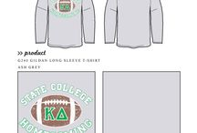Sports / Greek sorority and fraternity custom shirt designs featuring sport themes. For more information on screen printing or to get a proof for your next shirt order, visit www.jcgapparel.com
