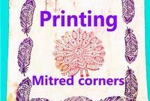 block printing mitred corners