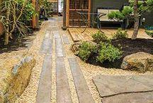 Asian inspired garden
