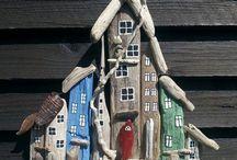 Tvoření ze dřeva a kamínků