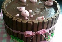 Piggie cakes ( Ailbhe ) / Pig cakes