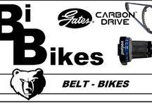 bibikes / Belt-Bikes / Bike met een Belt, ofwel Belt-Bikes. Fietsen met tandrien pinion of rohloff. Ook E-bikes mogelijk