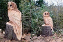 Owl Carvings and Statues