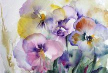 waterkolor kwiaty