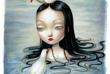 Benjamin Lacombe / Benjamin was born in Paris in 1982.  In 2001, he attended the Ecole Nationale Supérieure des Arts Décoratifs of Paris (ENSAD) where he pursued his artistic education. Benjamin lives and works in Paris with his dog Virgile, often found hiding among the pages of his books.