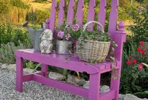 Garden Benches / Sit for a little while and listen to the flowers sing