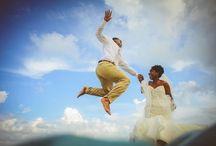 Unique Beach Destination Wedding Couple Photos
