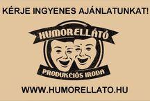 Humorellátó Produkciós Iroda Bemutatkozás / Humorista Rendelés  KÖZVETLEN AZ ELŐADÓKTÓL, KIVÁLÓ ÁRAKON! Humoristák, stand-up comedy előadók, showder klub fellépők, rádió kabaré művészek MEGRENDELÉSE. http://www.humorellato.hu/