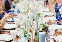 Blue Wedding Inspiration / Something borrowed, something blue ... my fave blue wedding inspiration finds.