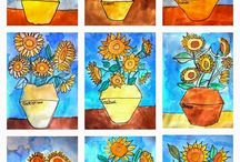 Arty Van Gogh sunflowers