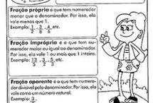frações matemática