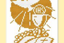 haft krzyżykowy komunia