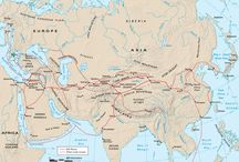 The Silk Road, Central Asia and their neighbors / Some reference material for an adult continuing education class I led.   Disclaimer: Those insightful descriptions are not mine.  / by Sam Pryor